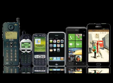 Phone size evolution through time